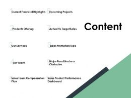 Content Products Offering Ppt Powerpoint Presentation File Deck