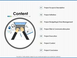 Content Project Budgeting Ppt Powerpoint Presentation Pictures Layouts