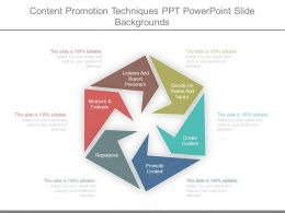 Content Promotion Techniques Ppt Powerpoint Slide Backgrounds
