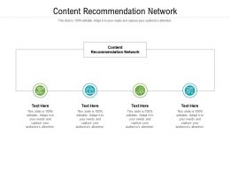 Content Recommendation Network Ppt Powerpoint Presentation Gallery Icon Cpb