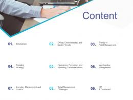 Content Retail Sector Overview Ppt Inspiration Show