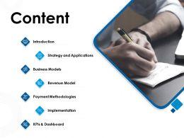 Content Revenue Model M983 Ppt Powerpoint Presentation Slides Elements