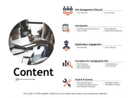 Content Risk Management Lifecycle C403 Ppt Powerpoint Presentation Outline Graphic Images