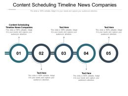 Content Scheduling Timeline News Companies Ppt Powerpoint Presentation Summary Design Cpb