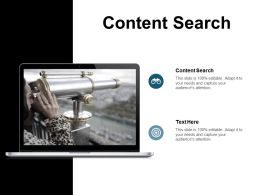 Content Search Ppt Powerpoint Presentation Infographic Template Slides Cpb