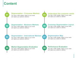 Content Segmentation Consumer Markets Ppt Summary Graphics Download