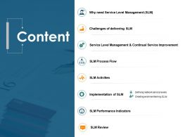Content Service Level Management Ppt Powerpoint Presentation Portfolio Files