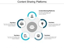 Content Sharing Platforms Ppt Powerpoint Presentation File Information Cpb