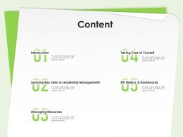 Content Skills In Leadership Management Ppt Powerpoint Presentation Backgrounds