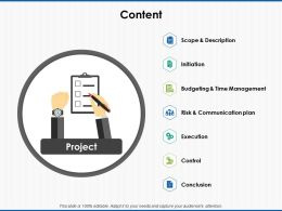 Content Slide Time Management Ppt Powerpoint Presentation Pictures Icon