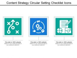 Content Strategy Circular Setting Checklist Icons