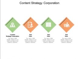 Content Strategy Corporation Ppt Powerpoint Presentation Summary Guide Cpb