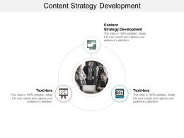 Content Strategy Development Ppt Powerpoint Presentation Gallery Introduction Cpb