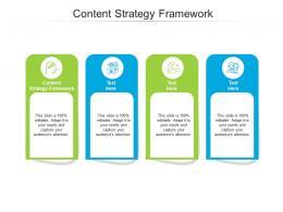 Content Strategy Framework Ppt Powerpoint Presentation Ideas Deck Cpb