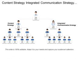 Content Strategy Integrated Communication Strategy Social Media Marketing