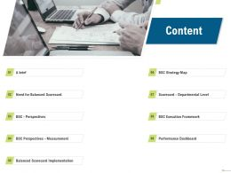 Content Strategy Map Balanced Scorecard N101 Ppt Powerpoint Presentation Aids
