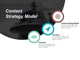 Content Strategy Model Ppt Powerpoint Presentation File Graphics Cpb