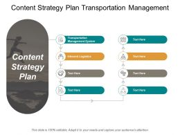 Content Strategy Plan Transportation Management System Inbound Logistics Cpb