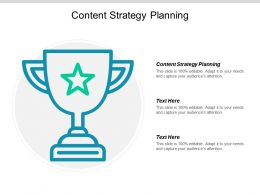 Content Strategy Planning Ppt Powerpoint Presentation Icon Styles Cpb