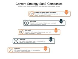 Content Strategy SaaS Companies Ppt Powerpoint Presentation Infographics Topics Cpb