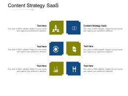 Content Strategy SaaS Ppt Powerpoint Presentation Icon Slideshow Cpb