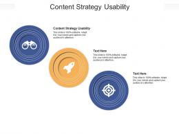 Content Strategy Usability Ppt Powerpoint Presentation Model Examples Cpb