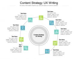 Content Strategy UX Writing Ppt Powerpoint Presentation Icon Styles Cpb