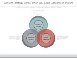 Content Strategy Venn Powerpoint Slide Background Picture