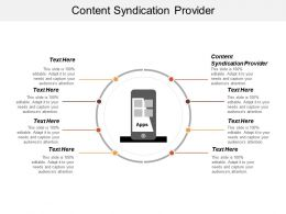 Content Syndication Provider Ppt Powerpoint Presentation File Introduction Cpb