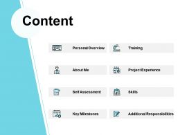 Content Training About Me Ppt Powerpoint Presentation File Themes