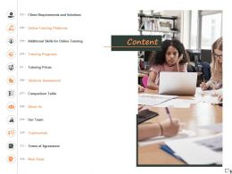 Content Tutoring Programs A1266 Ppt Powerpoint Presentation Gallery Graphics Tutorials