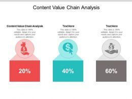Content Value Chain Analysis Ppt Powerpoint Presentation Infographic Template Shapes Cpb
