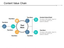 Content Value Chain Ppt Powerpoint Presentation Professional Format Ideas Cpb