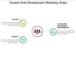 Content Web Development Marketing Rules Ppt Powerpoint Presentation Slide Cpb