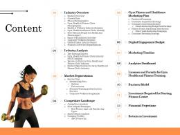 Content Wellness Industry Overview Ppt Outline Grid