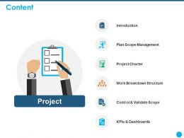Content Work Breakdown Structure Ppt Powerpoint Presentation Good