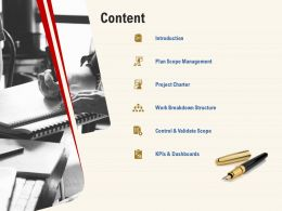 Content Work Breakdown Structure Ppt Powerpoint Presentation Introduction