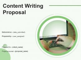 Content Writing Proposal Powerpoint Presentation Slides