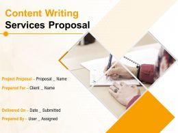 Content Writing Services Proposal Powerpoint Presentation Slides
