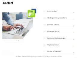 Contente Business Management Ppt Topics