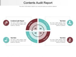 Contents Audit Report Ppt Powerpoint Presentation Layouts Ideas Cpb