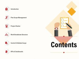 Contents Breakdown Structure Ppt Powerpoint Presentation Summary