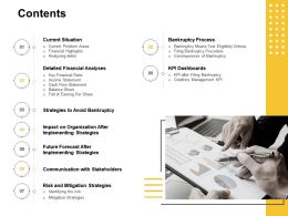 Contents Communication With Stakeholders Ppt Powerpoint Presentation Professional