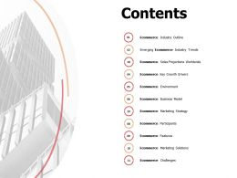 Contents Ecommerce Environment L222 Ppt Powerpoint Presentation Styles