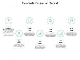 Contents Financial Report Ppt Powerpoint Presentation Pictures Example Introduction Cpb