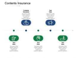 Contents Insurance Ppt Powerpoint Presentation Model Guide Cpb