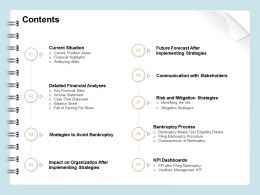 Contents R385 Detailed Financial Analyses Ppt Powerpoint Presentation File