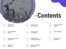 Contents Resiliency M494 Ppt Powerpoint Presentation Professional Example Topics