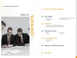 Contents Time Frame Ppt Powerpoint Gallery Outline