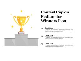 Contest Cup On Podium For Winners Icon